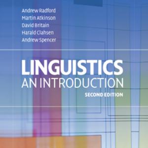 Linguistics An Introduction